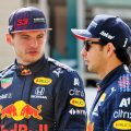 Sergio Perez and Max Verstappen