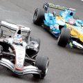 Kimi Raikkonen, McLaren, Fernando Alonso, Renault, 2005 Belgian Grand Prix