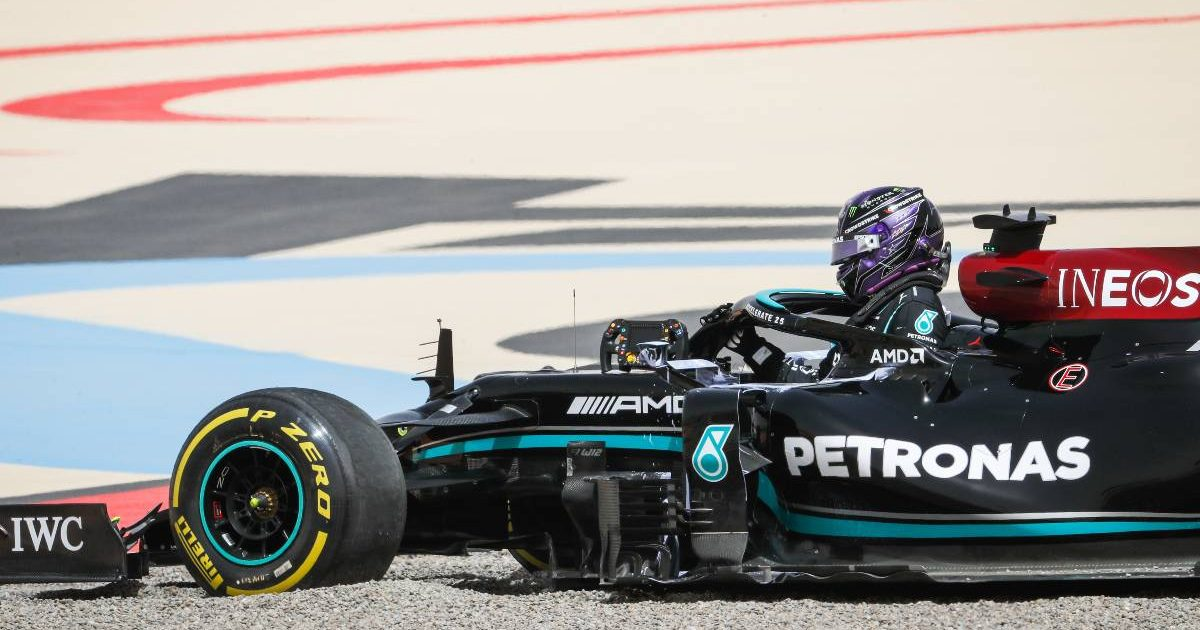 Sir Lewis Hamilton Mercedes Bahrain gravel