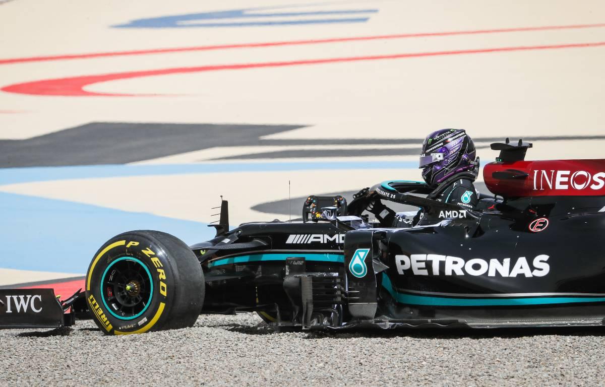 Sir Lewis Hamilton Bahrain gravel