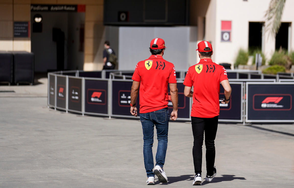 Carlos Sainz and Charles Leclerc Ferrari