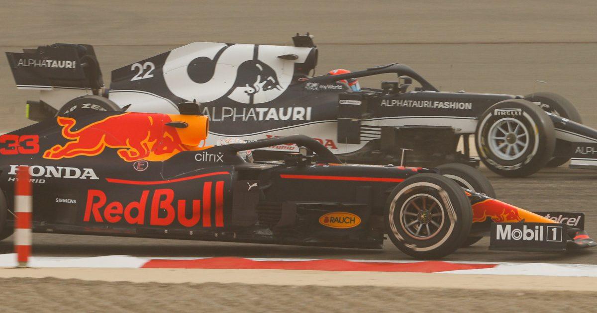 Max Verstappen and Yuki Tsunoda