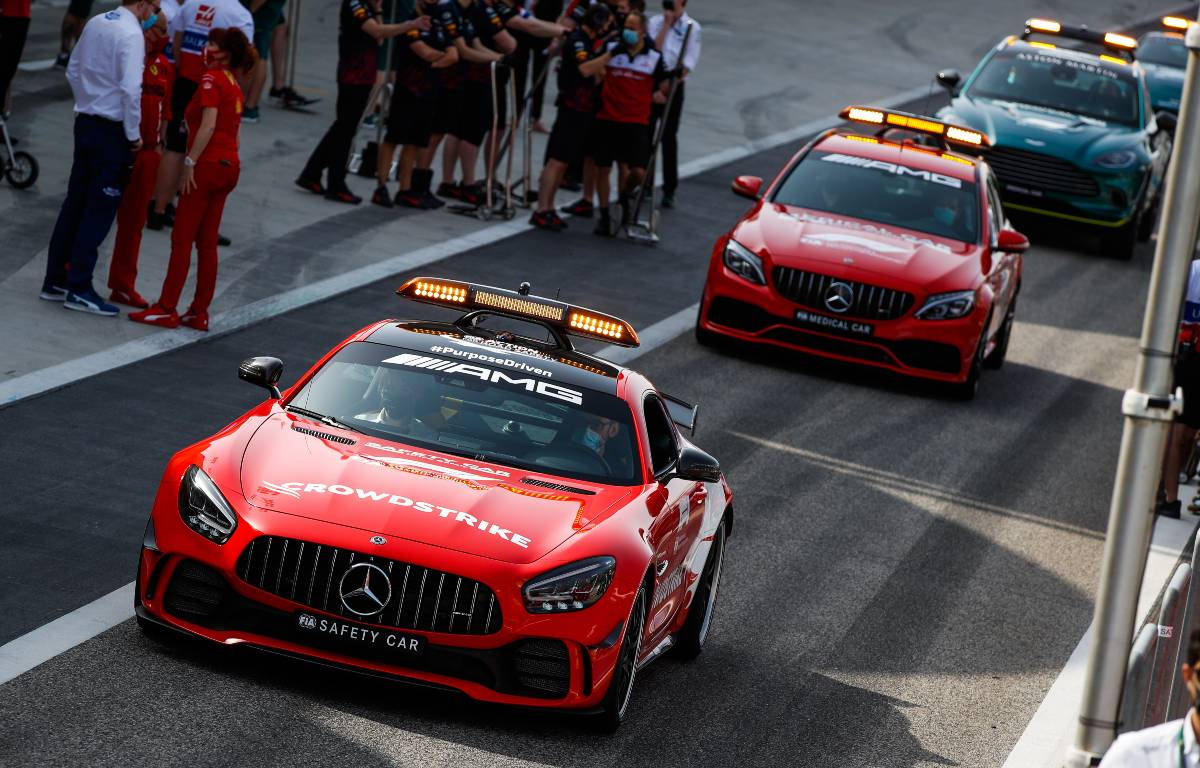 2021 Mercedes and Aston Martin Vantage Safety Cars