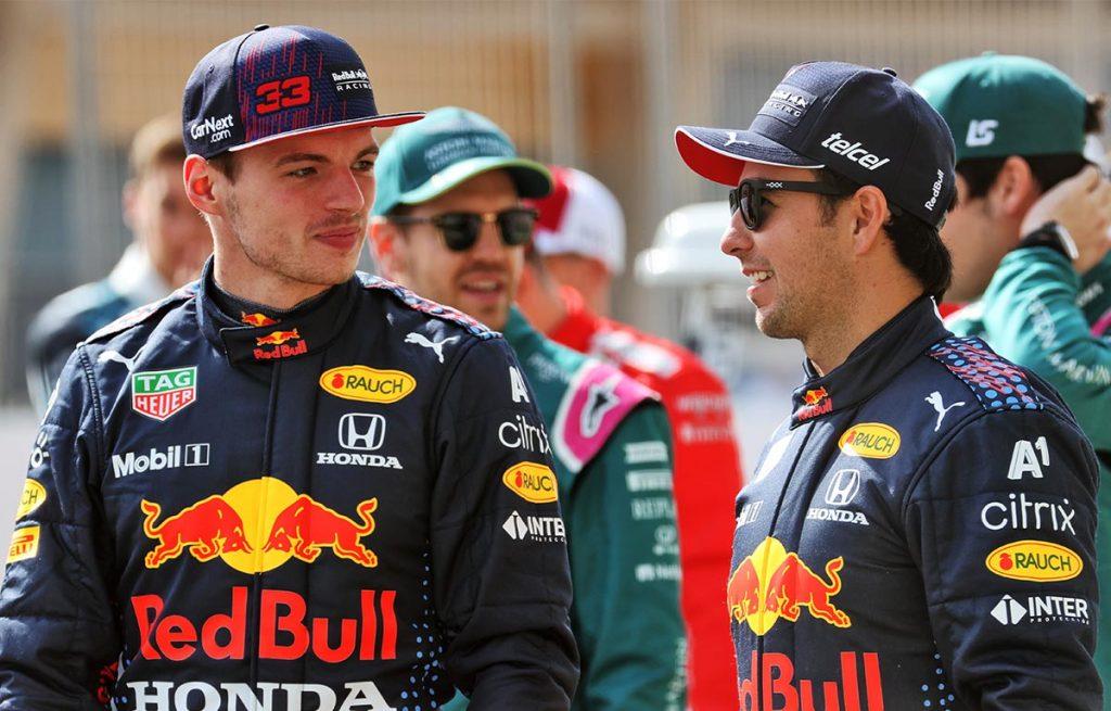 Max Verstappen Sergio Perez Red Bull PA