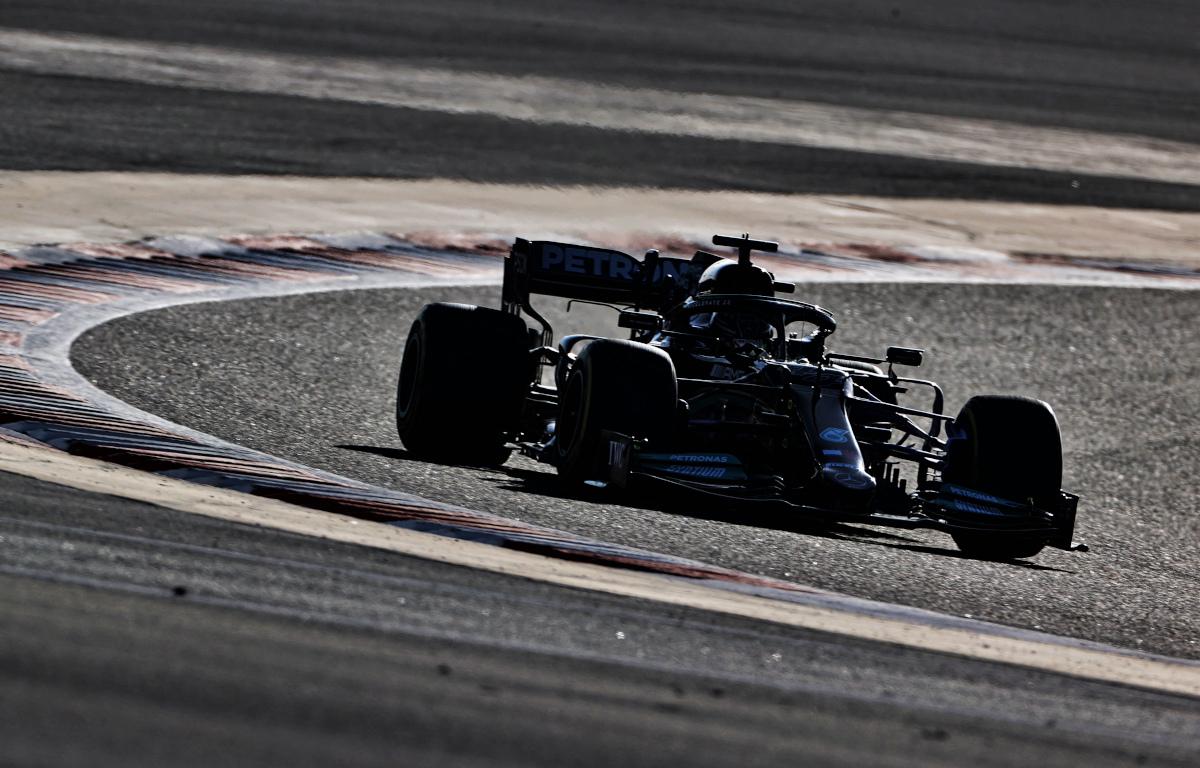 Lewis Hamilton Mercedes W12 testing
