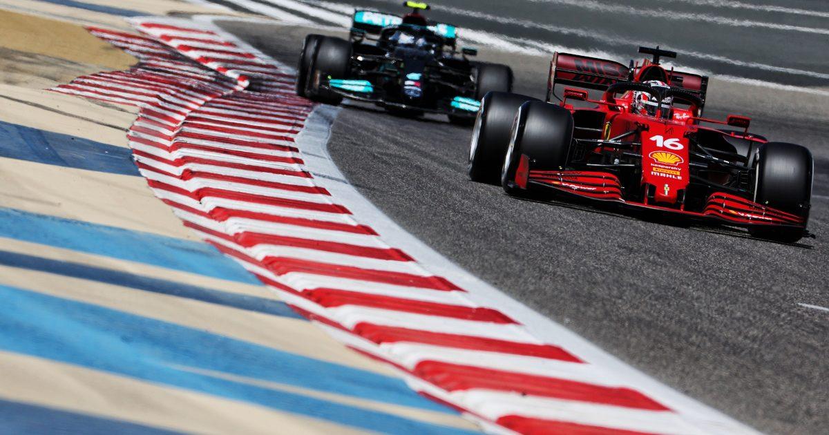 Charles Leclerc leads Mercedes