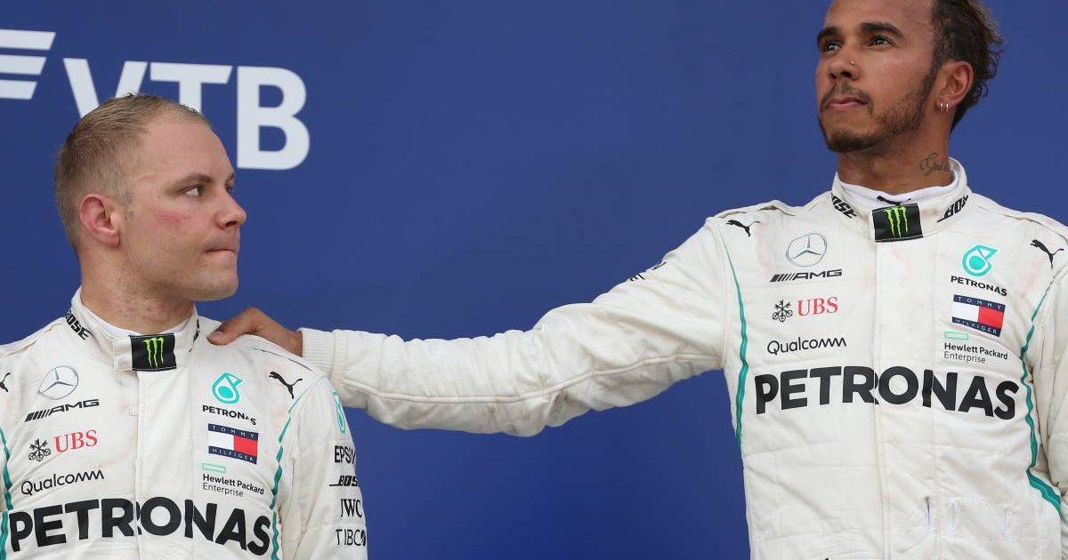 Valtteri Bottas and Lewis Hamilton, 2018 Russian Grand Prix podium