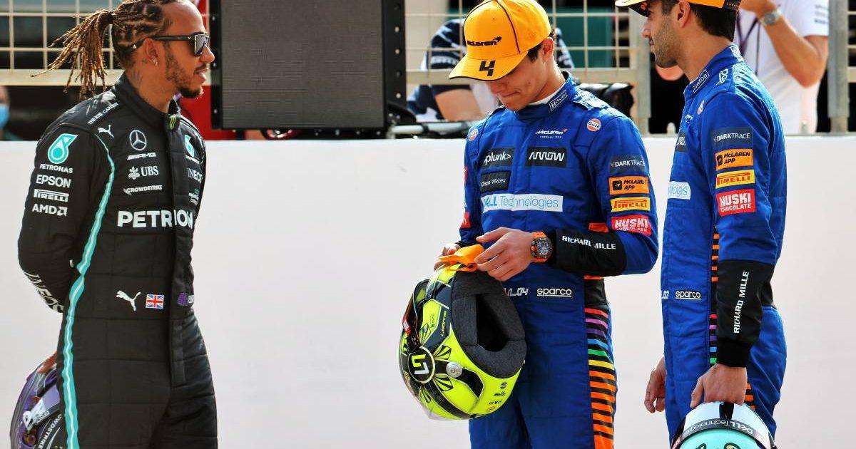 Lewis Hamilton Lando Norris Daniel Ricciardo