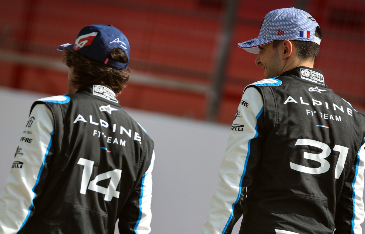 Fernando Alonso and Esteban Ocon