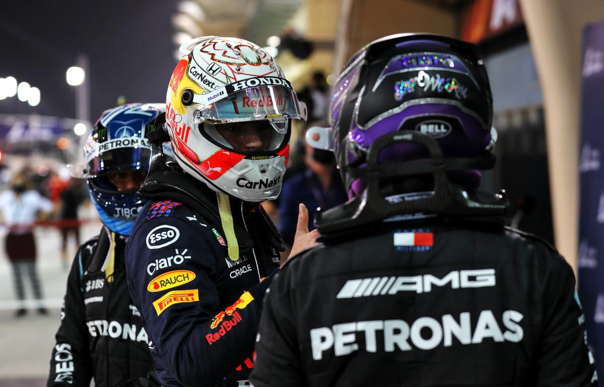 Lewis Hamilton and Max Verstappen and Valtteri Bottas