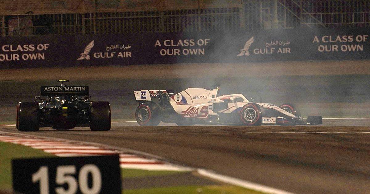 Sebastian Vettel Aston Martin Nikita Mazepin Haas