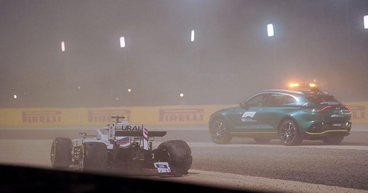 Nikita Mazepin Bahrain crash PA