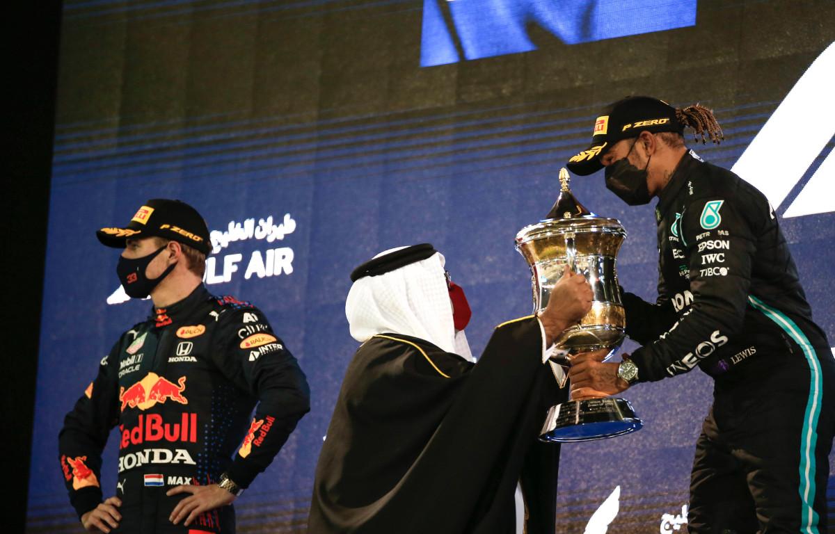 Lewis Hamilton and Max Verstappen Bahrain