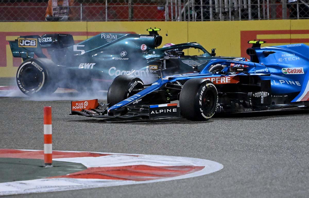 Esteban Ocon Sebastian Vettel Bahrain crash PA