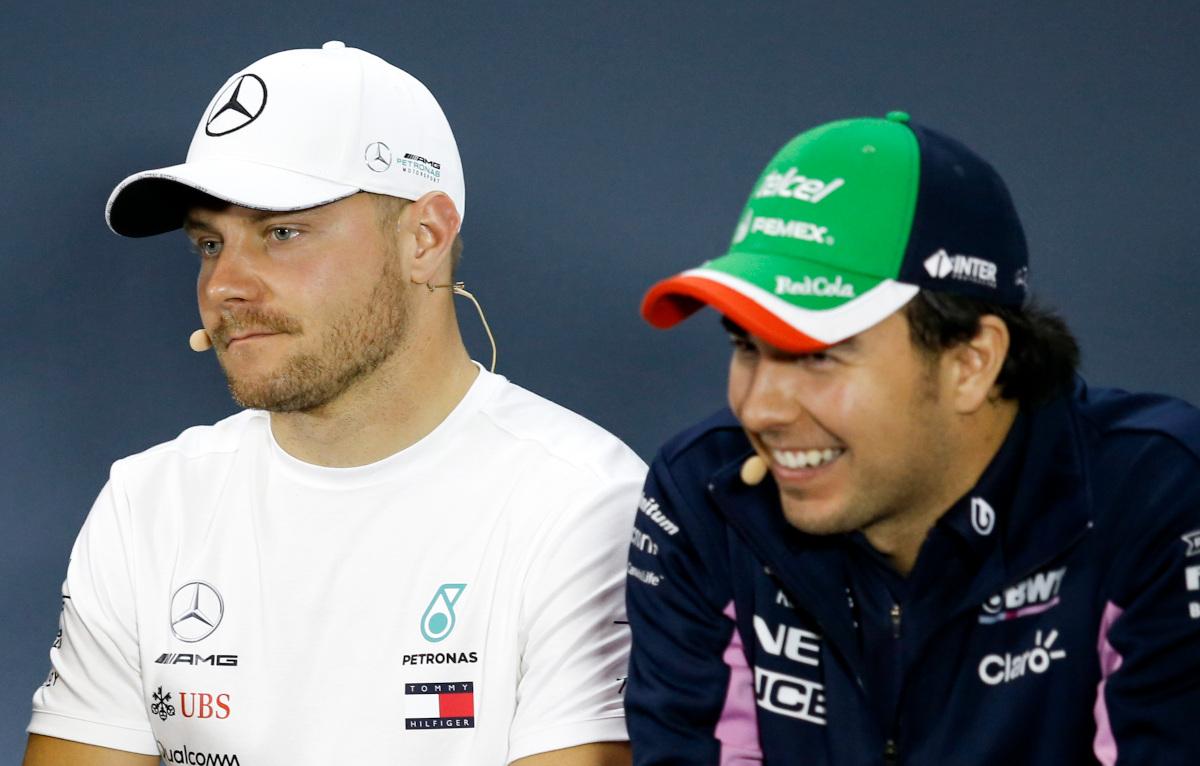Sergio Perez and Valtteri Bottas