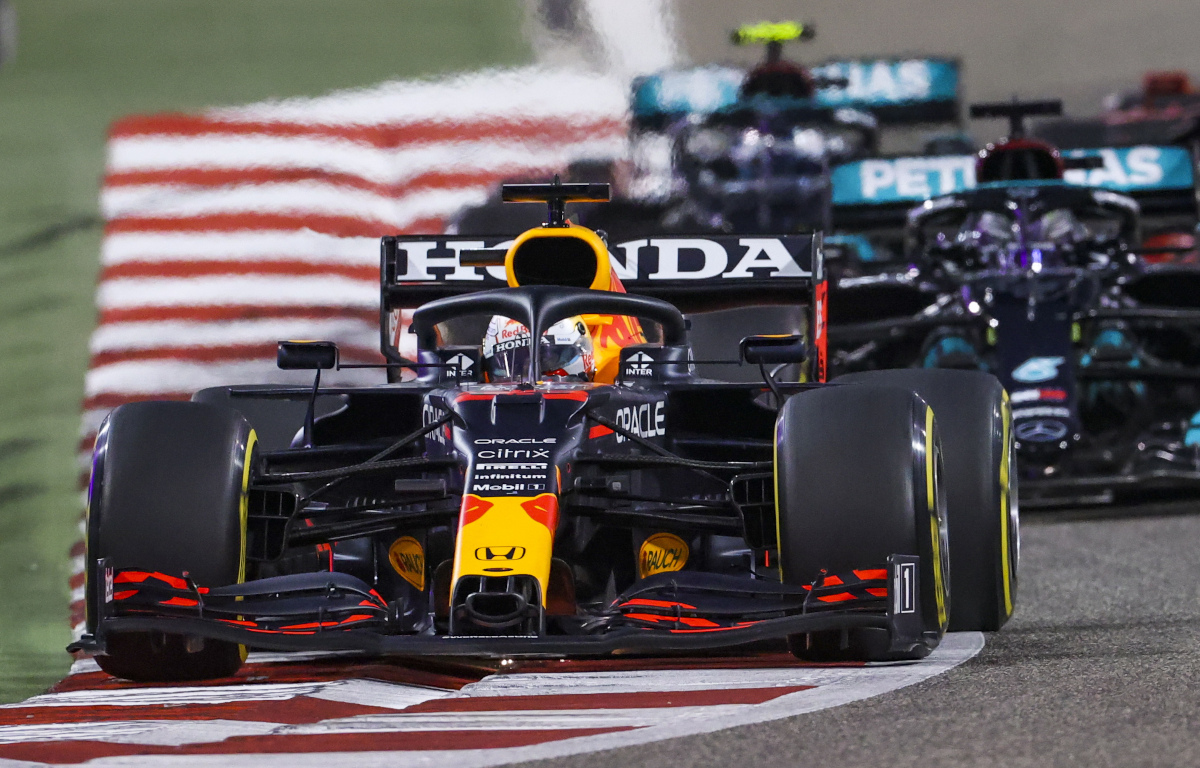 Max Verstappen leads Mercedes
