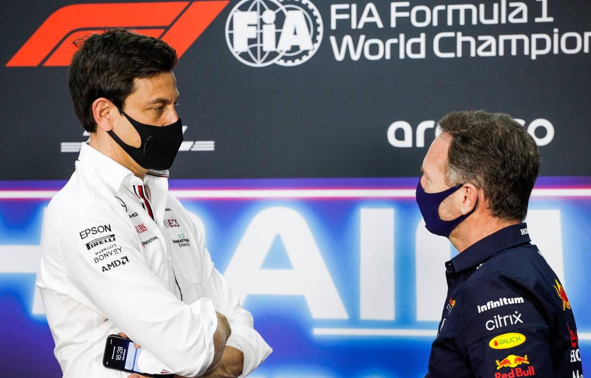 Toto Wolff Christian Horner Mercedes Red Bull