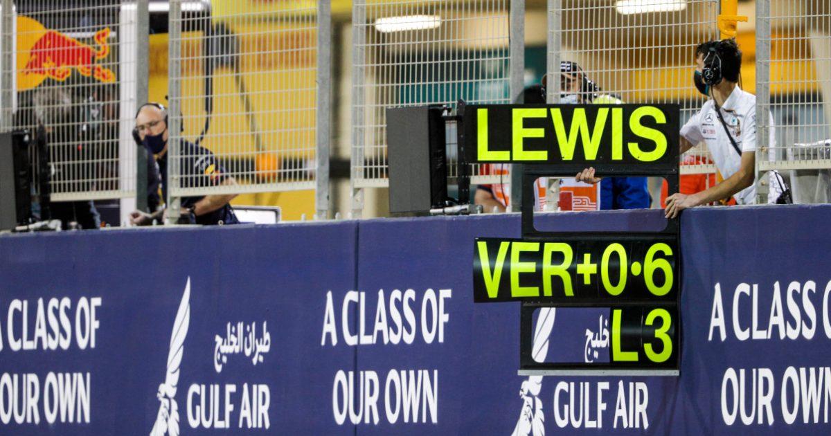 Lewis Hamilton pitboard Bahrain Grand Prix
