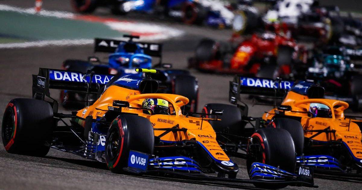 Lando Norris, Daniel Ricciardo, McLaren, 2021 Bahrain Grand Prix