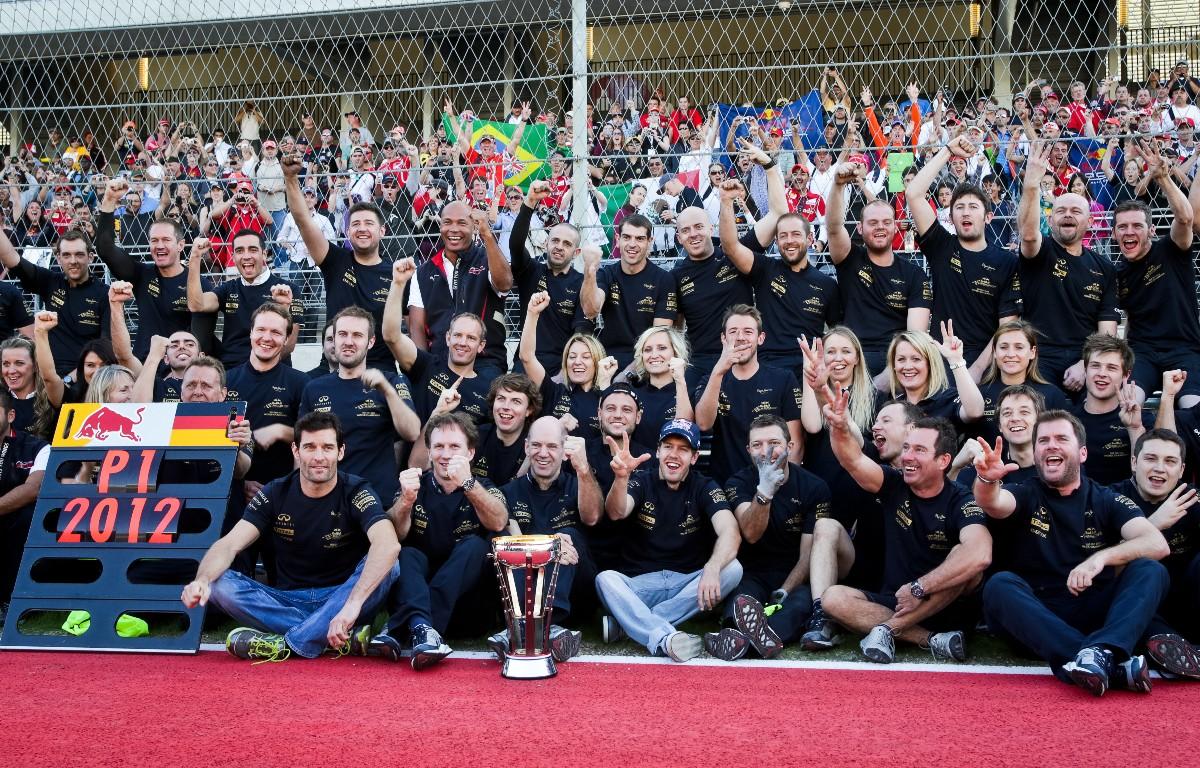 Red Bull celebrate 2012