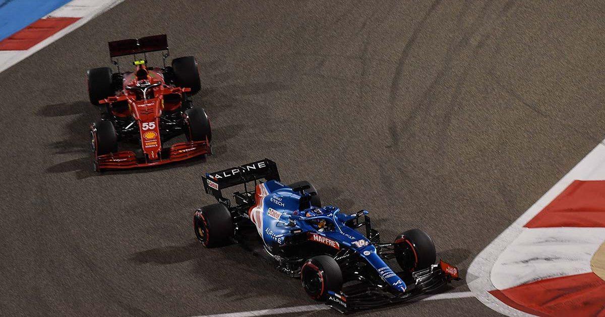 Fernando Alonso Alpine Ferrari Carlos Sainz