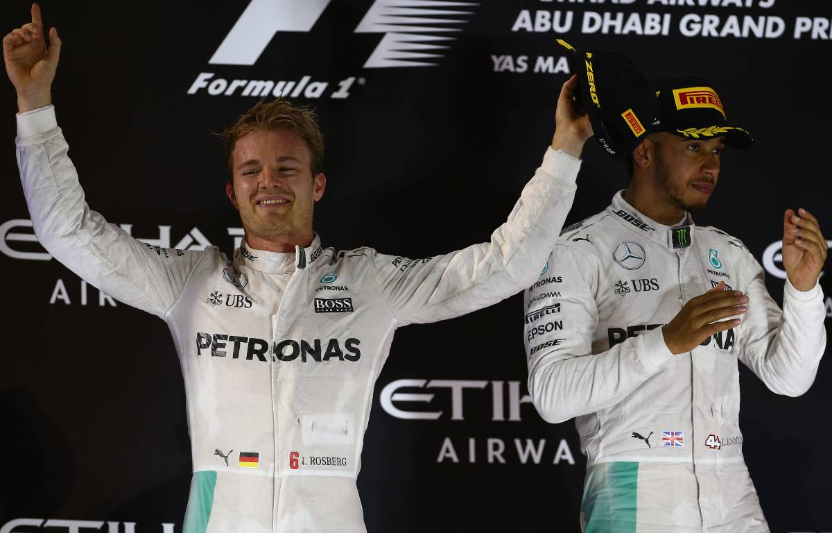 Nico Rosberg Lewis Hamilton, 2016 Abu Dhabi Grand Prix podium