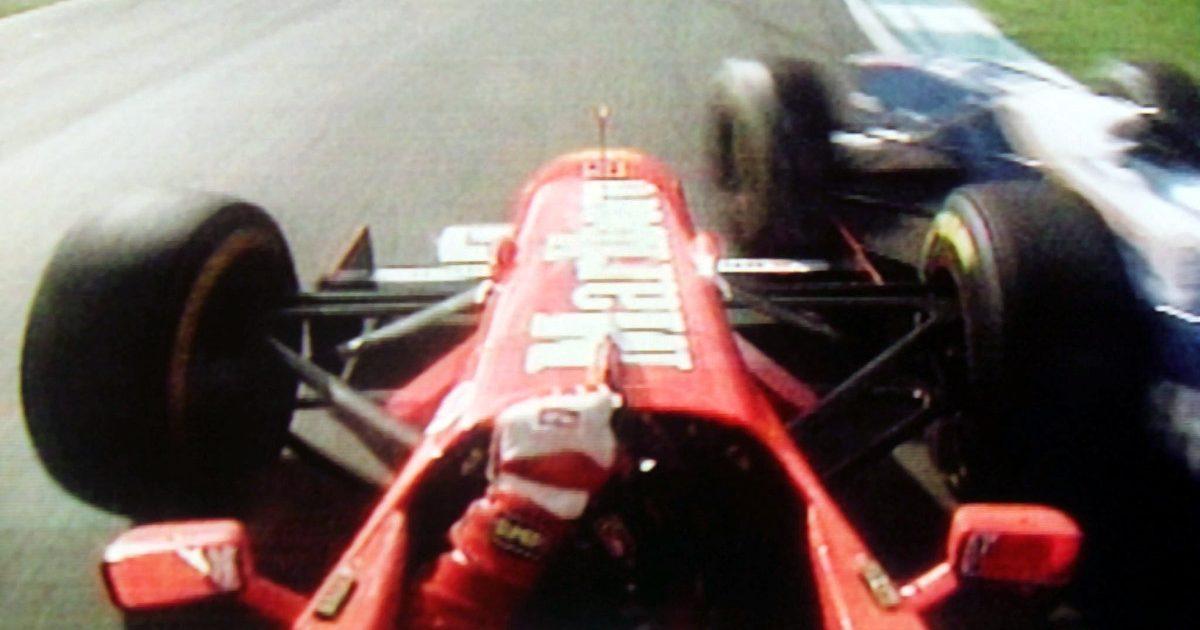 Michael Schumacher and Jacques Villeneuve Jerez 1997