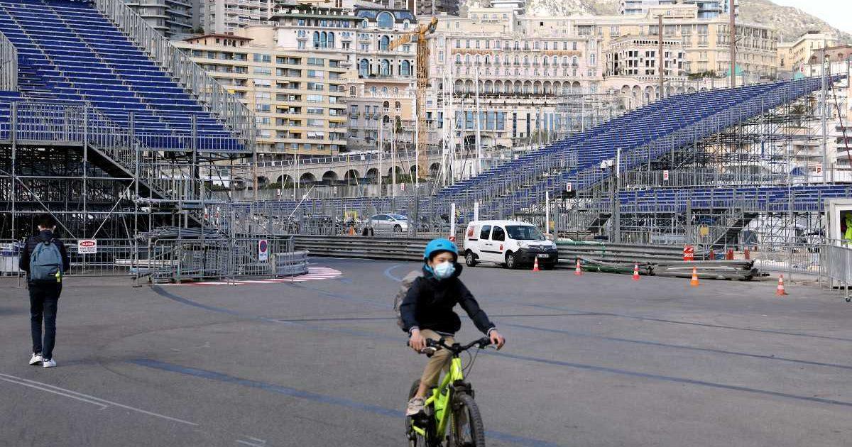 Monaco GP track being built