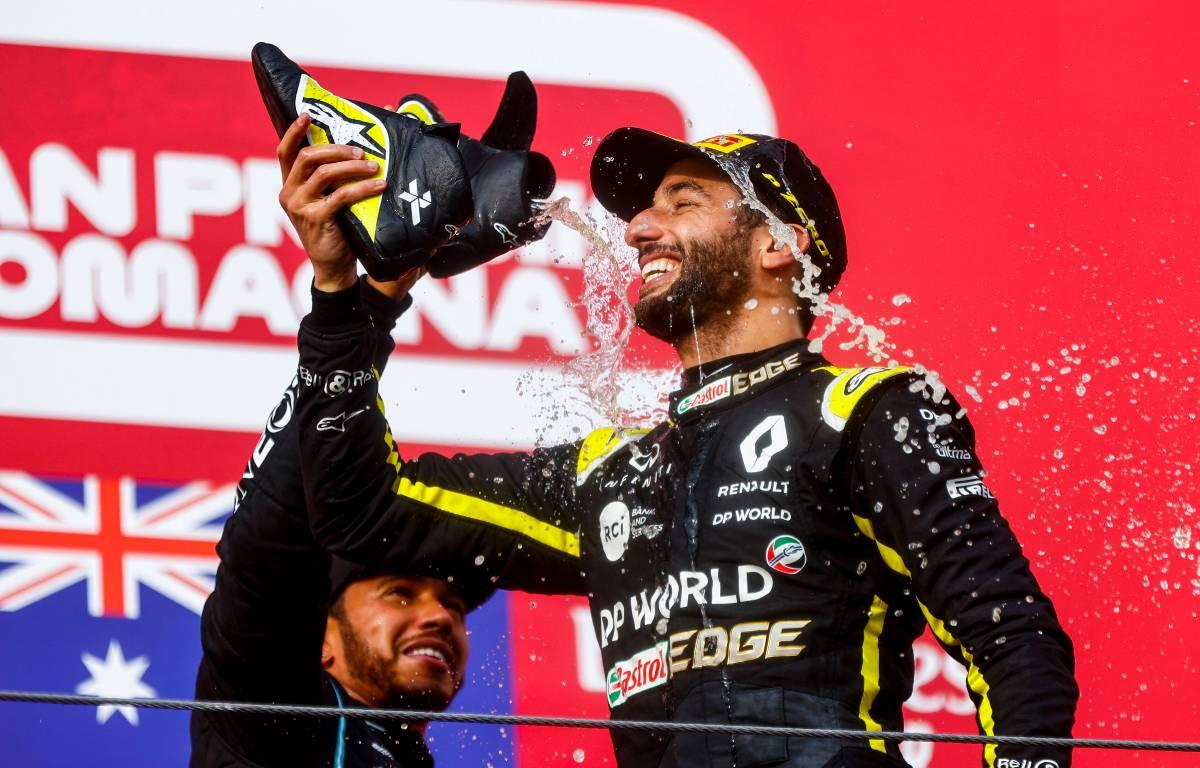 Daniel Ricciardo Imola podium