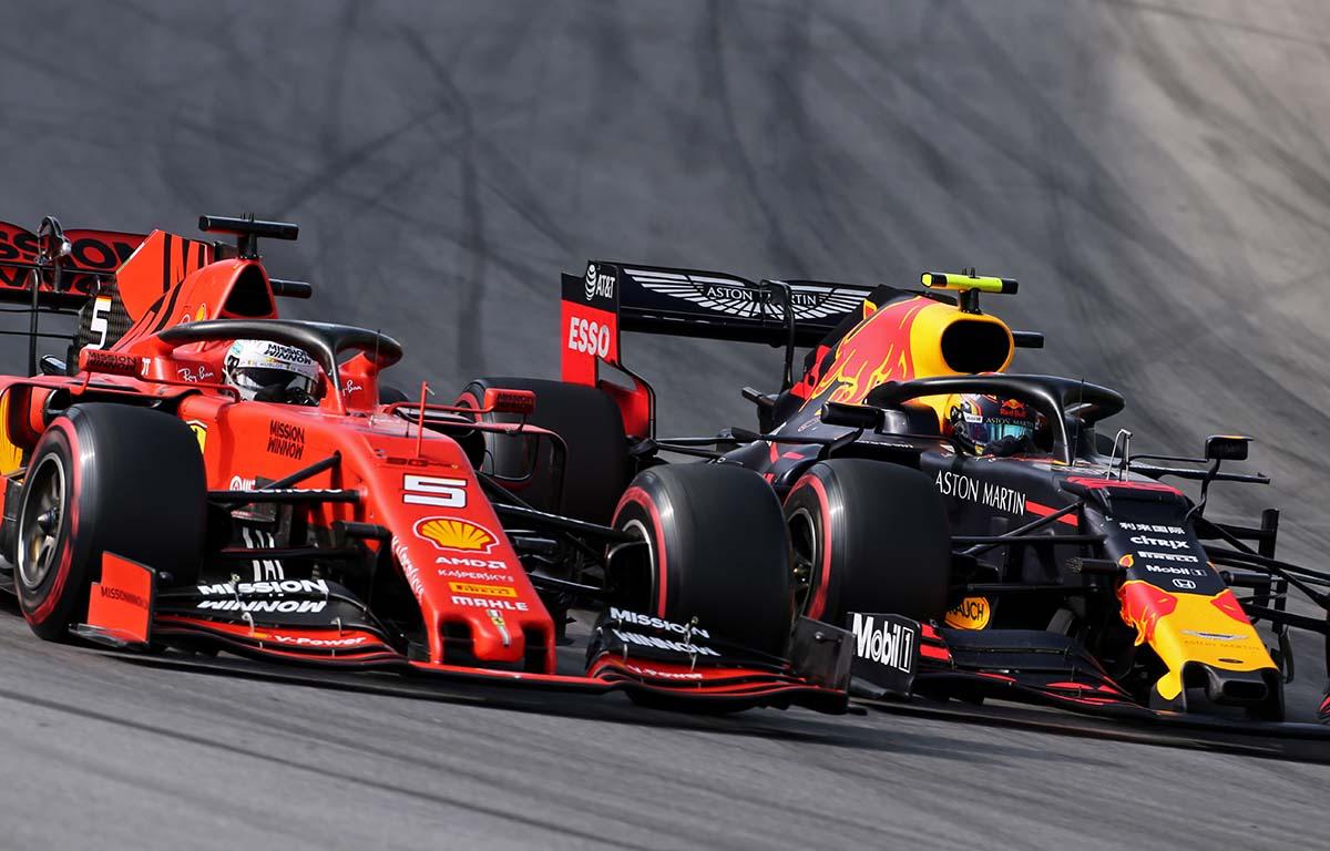 Alex Albon Sebastian Vettel Red Bull Ferrari