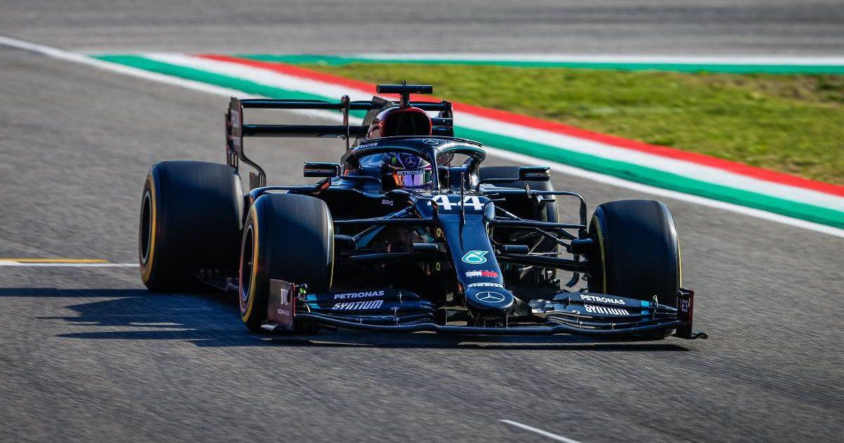 Lewis Hamilton DRS open 2020