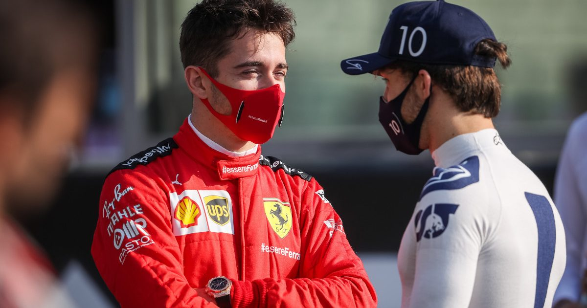 Charles Leclerc and Pierre Gasly