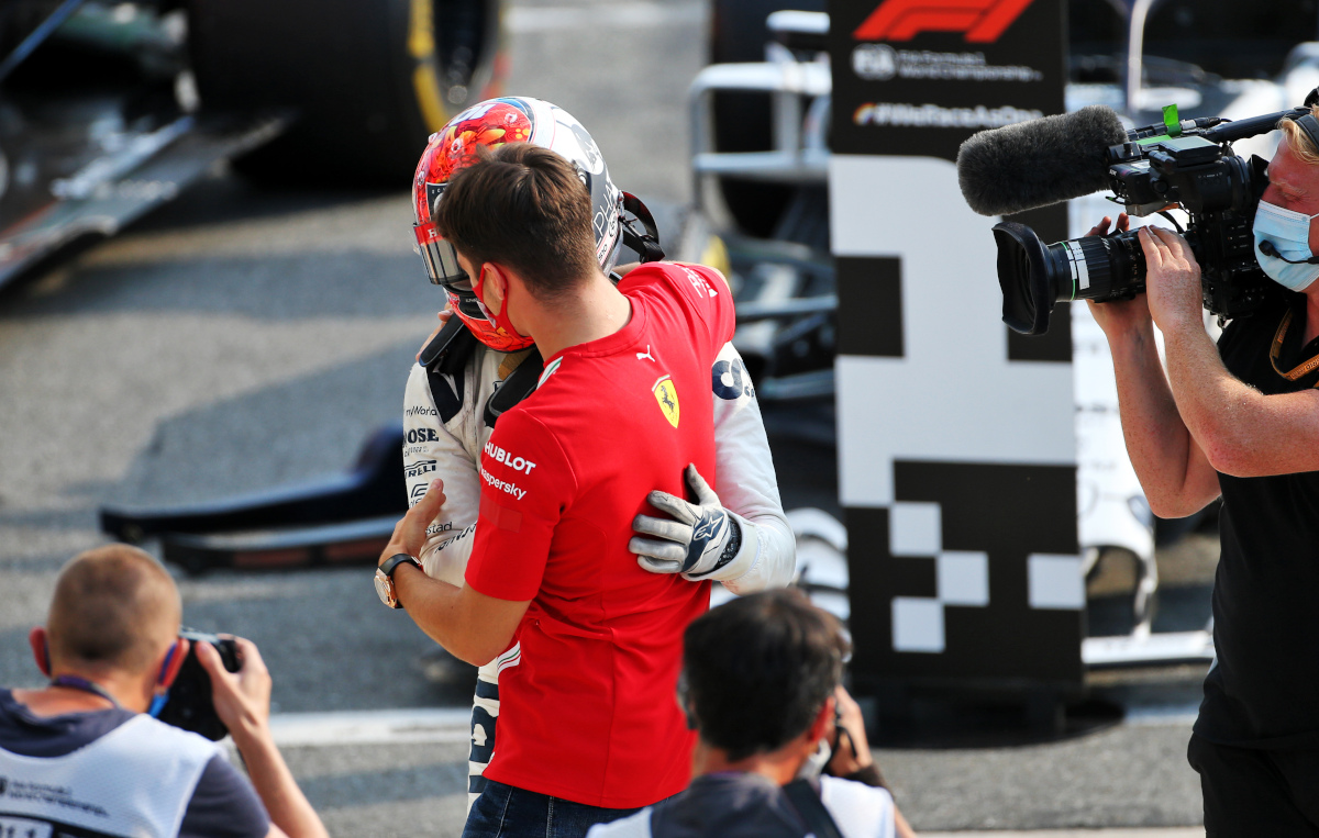 Charles Leclerc and Pierre Gasly Italian GP 2020