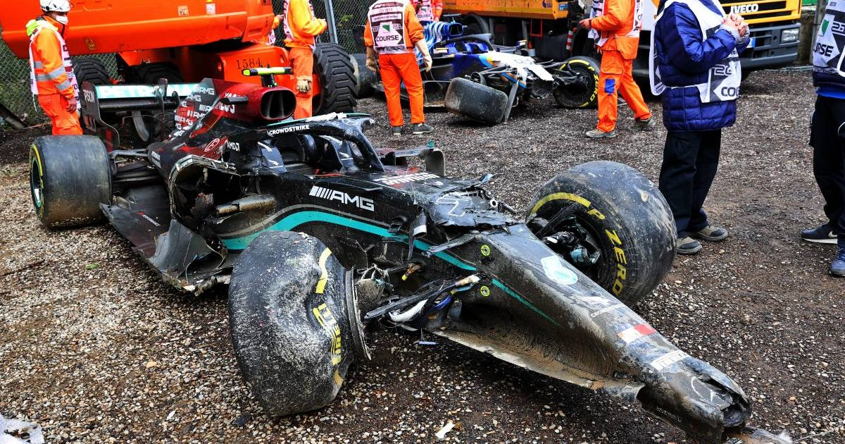 Valtteri Bottas' Mercedes, 2021 Emilia Romagna Grand Prix
