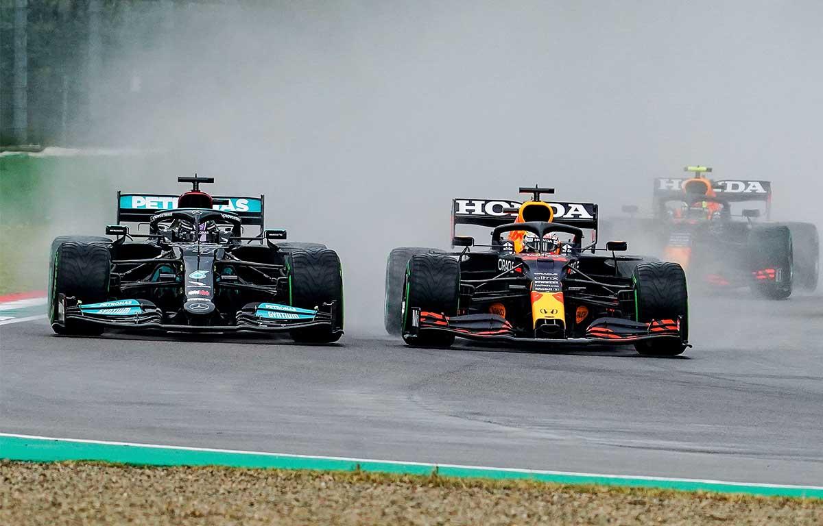 Lewis Hamilton Max Verstappen Imola PA