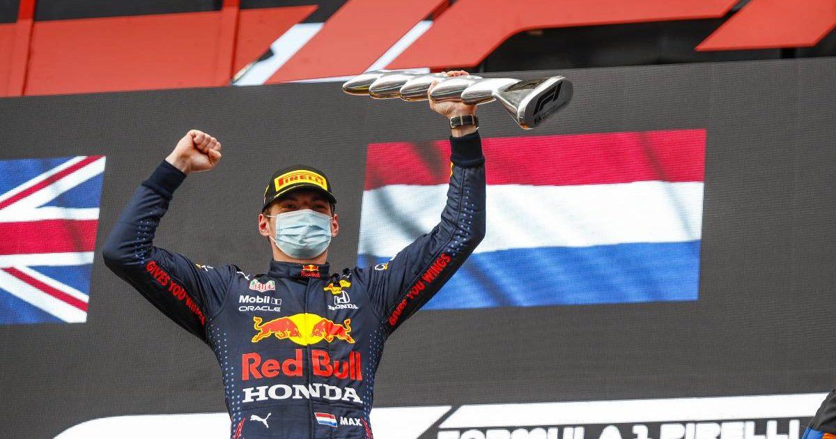 Max Verstappen, Imola 2021 podium