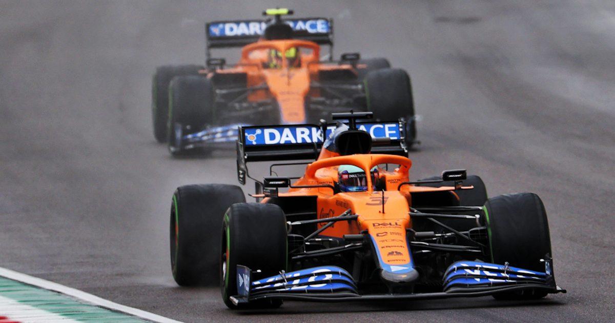 Daniel Ricciardo leads Lando Norris