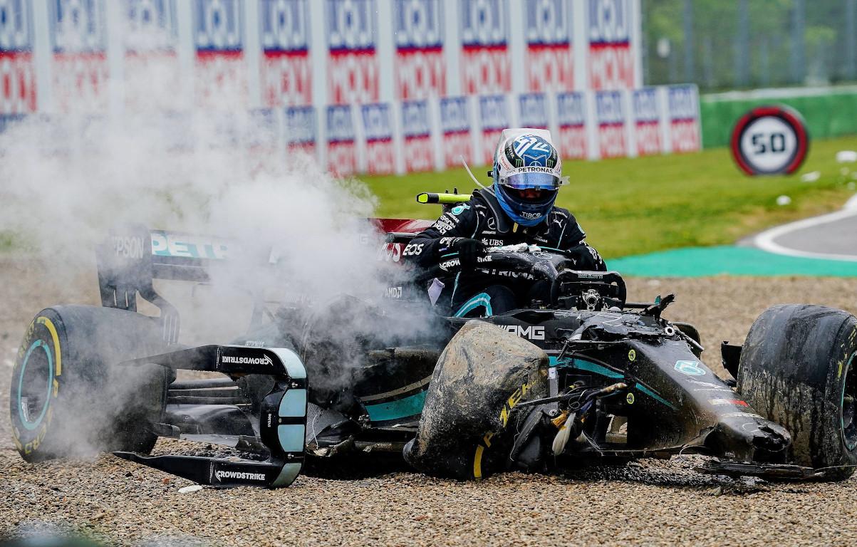 Valtteri Bottas Imola crash