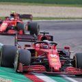 Charles Leclerc leads Carlos Sainz