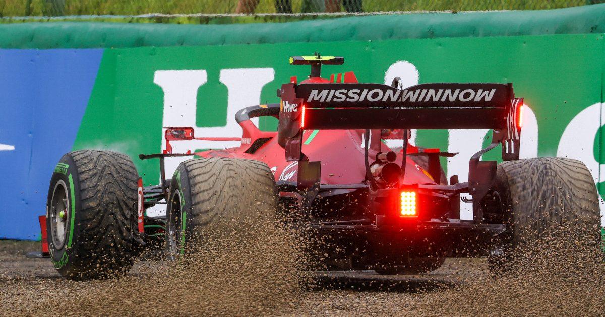 Carlos Sainz spin