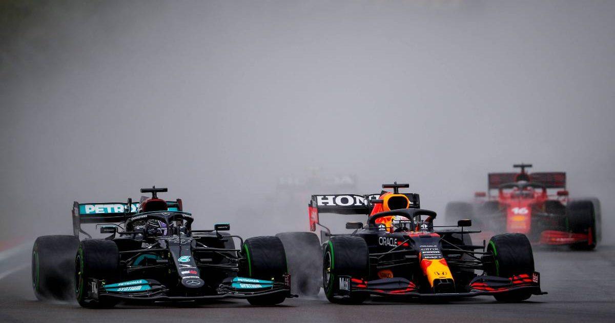 Lewis Hamilton Max Verstappen, Imola 2021 start
