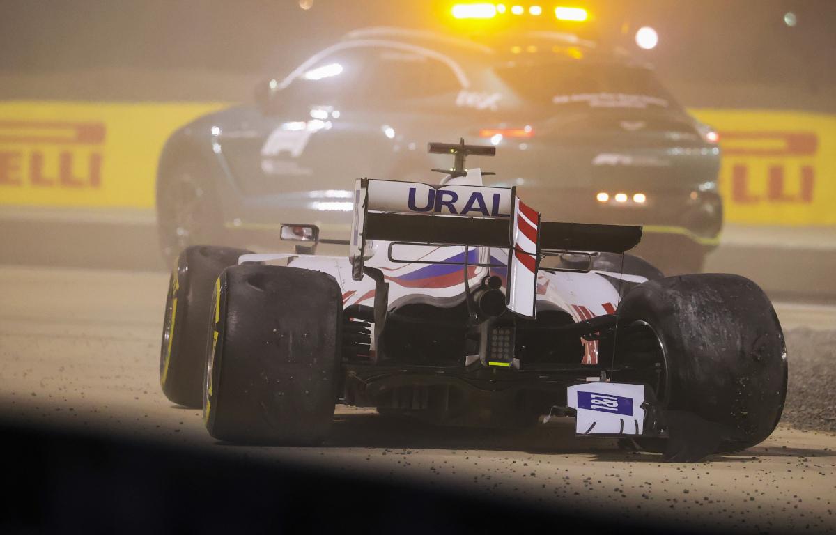 Nikita Mazepin Bahrain crash