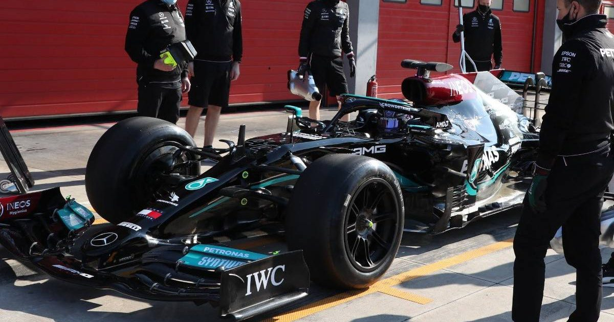 Lewis Hamilton Mercedes 18 inch tyres twitter