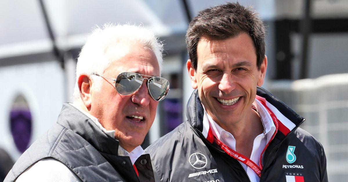 Lawrence Stroll and Toto Wolff