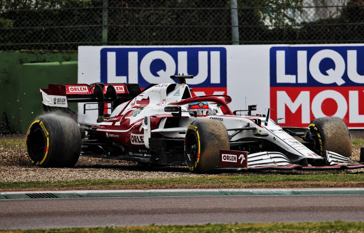 Kimi Raikkonen spin