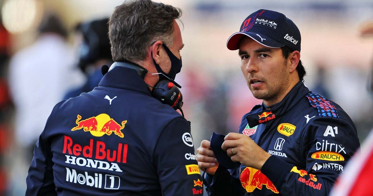 Christian Horner and Sergio Perez, Red Bull