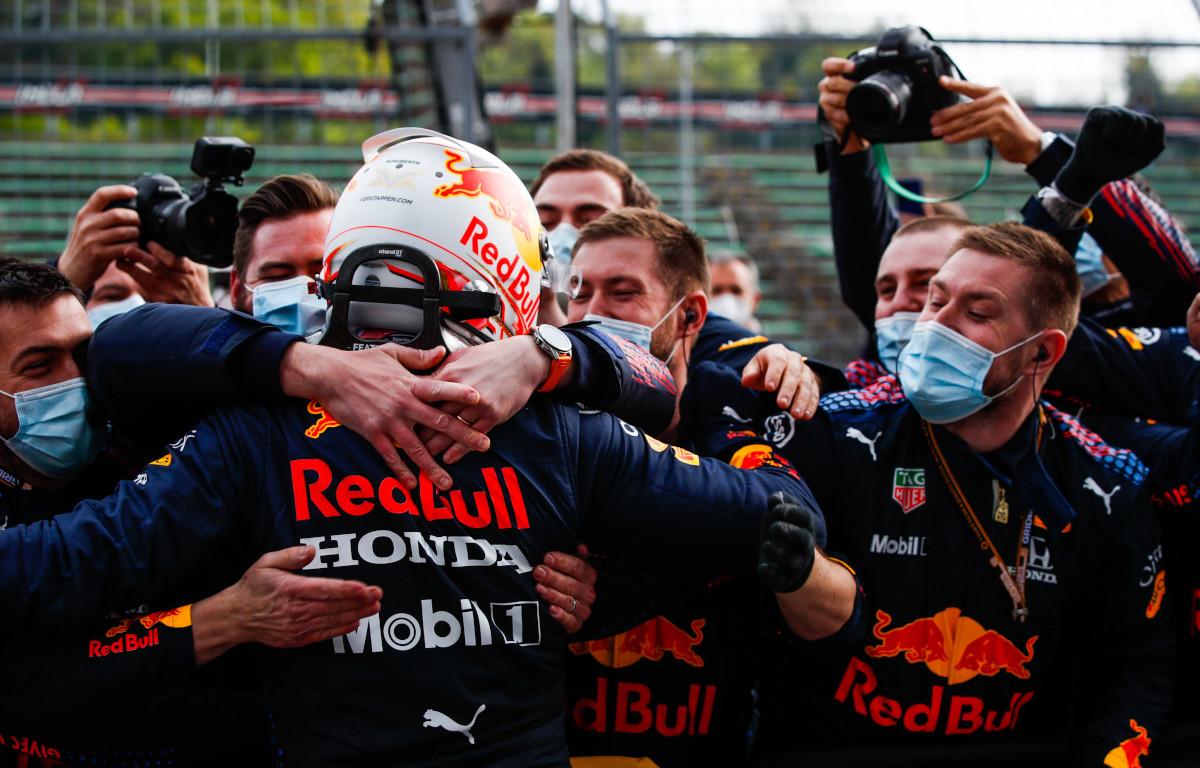 Max Verstappen Red Bull celebrate