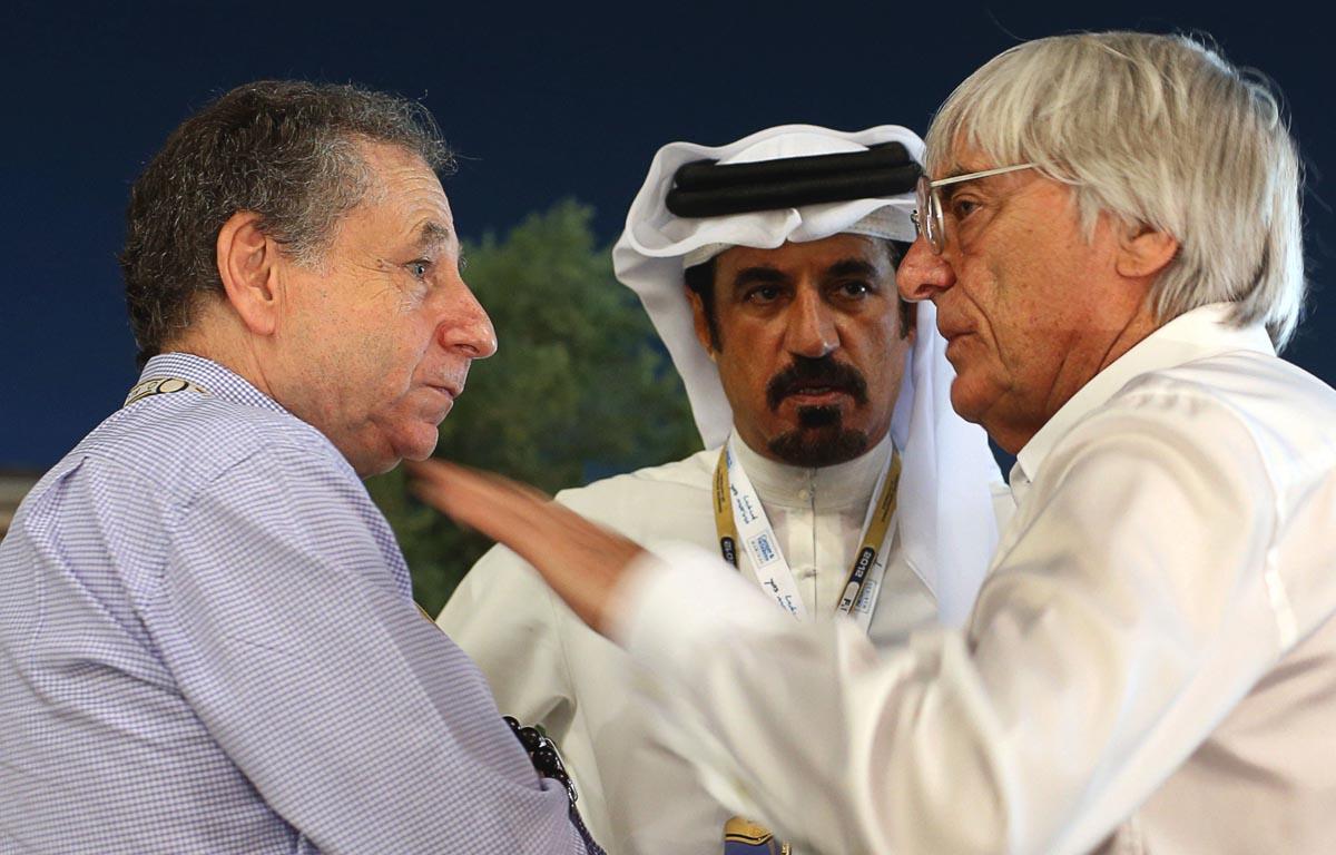 Mohammed bin Sulayem, Jean Todt, Bernie EcclestoneFIA presidential election, Formula 1