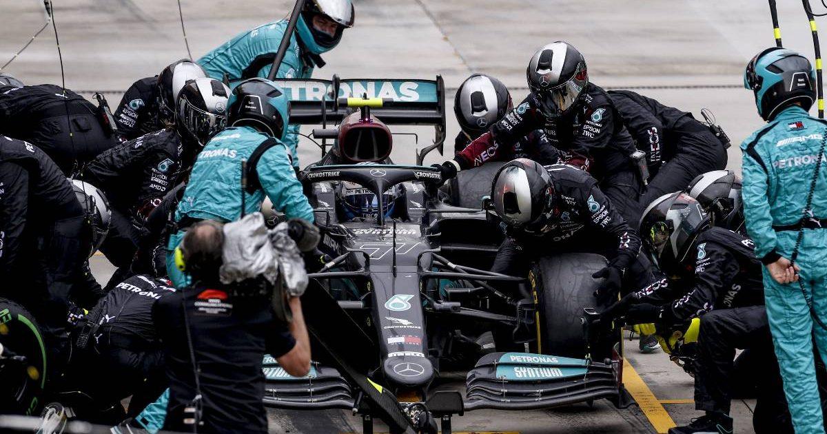 Mercedes Valtteri Bottas pit stop