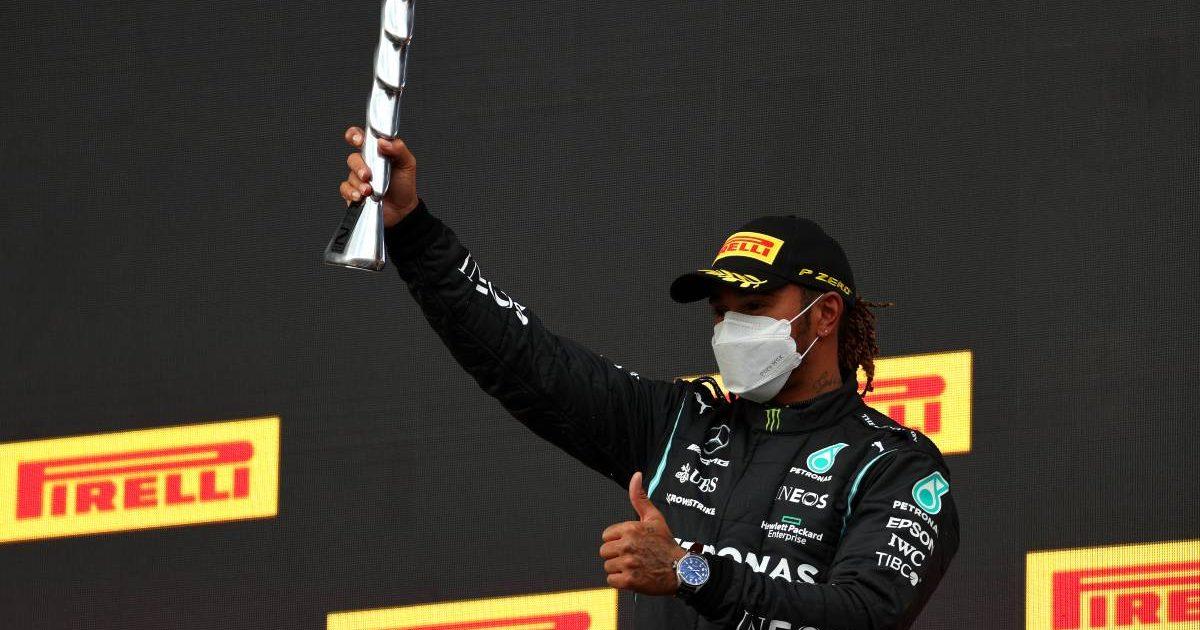 Sir Lewis Hamilton Imola podium 2021